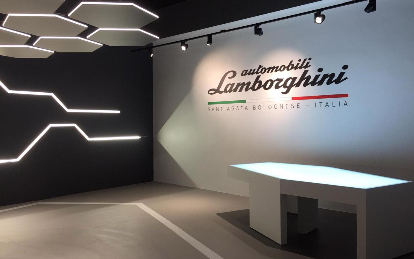 Pre-Start für Lamborghini Brand Room