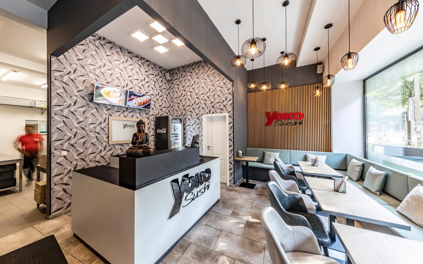 Marken-Interior für Yoko Sushi